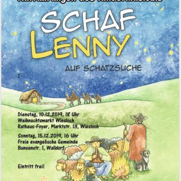 """Weihnachtsmusical """"Schaf Lenny"""" am 10. und 15. Dezember 2019 in Wiesloch und Walldorf"""