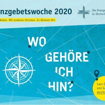 Allianzgebetswoche 13. – 19. Januar 2020 – Gemeinsam beten. Mit anderen Christen. In Wiesloch und Walldorf.