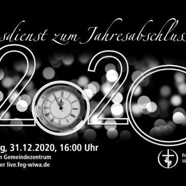 Gottesdienst zum Jahresabschluß 2020